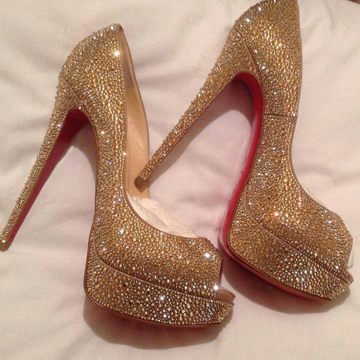 crystal bridal shoes | Christian Louboutin Strass & Crystal shoes