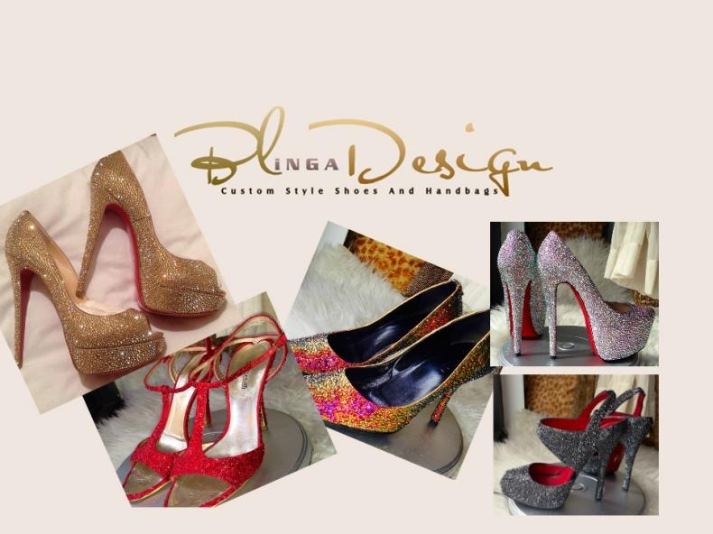Blinga Design's Swarovski Crystal Bridal Shoes