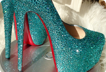 crystallized shoes