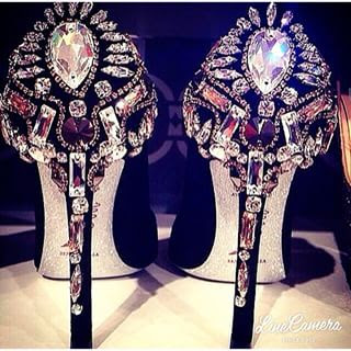 Swarovski crystal shoes